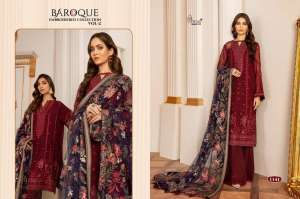 Shree Fabs Baroque Embroidered Collection Vol-2 1141-1145 Series